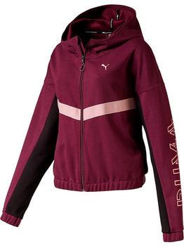 Puma HIT Feel It Knitted Training Sweat Jacket Women bordeaux