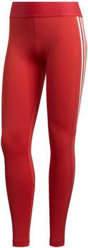 Adidas Damen Alphaskin 3-Streifen lange Tight glory red