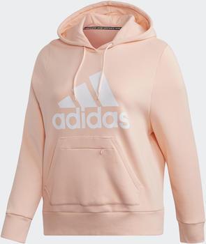 Adidas Badge of Sport Sweatshirt Fleece Hoodie Plus Size haze coral (FR9706)