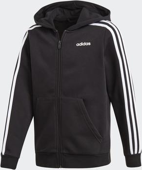Adidas Essentials 3-Stripes Hooded Jacket Kids black/white/black (DV1823)