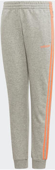 Adidas Essentials 3-Stripes Pants Kids medium grey heather/signal coral (FM6984)