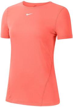 Nike Pro Short-Sleeve Mesh Training Top Women coral