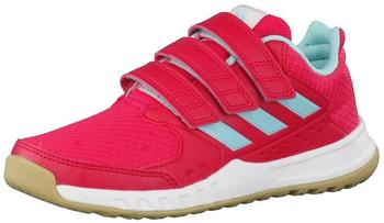 Adidas FortaGym CF K red/energy pink/energy aqua/footwear white