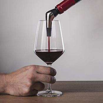 Vacu Vin Slow Pourer Weinausgießer Kststoff Elstahl Sber Swarz,,