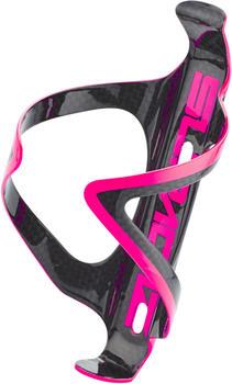 SUPACAZ Fly Cage Carbon Bottle Holder neon pink