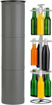 EASYmaxx Outdoor Flaschenkühler schwarz/grau