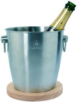 Laguiole Champagnerkübel mit Holzsockel