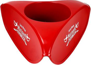 Captain Morgan Hutförmiger Kühler Flaschenkühler Eiskühler Getränkekühler in Rot
