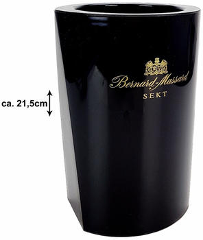 Bernard-Massard Sektkühler Flaschenkühler Weinkühler schwarz