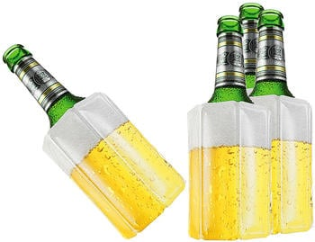 TS Exclusiv 4x Bier Kuehlmanschette Bierkühler Flaschenkühler Getränkekühler