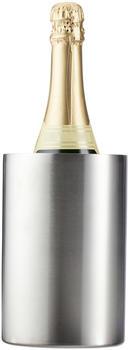 Relaxdays Standard, silber Flaschenkühler Edelstahl, doppelwandig, starke Isolierung, Sektkühler und Weinkühler, Flaschen Ø 10 cm