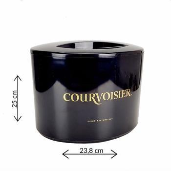 Courvoisier Courvoisier Flaschenkühler Eiskühler Getränkekühler Bar mit Deckel in schwarz