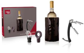 Vacu Vin Weinkühler Geschenkset Wein Klassik, mit Wein-Zubehör