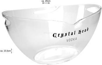 Crystal Head Crystal Head Vodka Kühler Flaschenkühler Eiskühler Getränkekühler Bar transparent