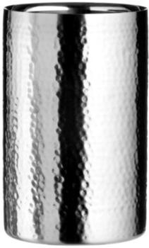 Premier Housewares Weinkühler/Sektkühler Aus Edelstahl, Mit Hammerschlagoptik, Silber, 12X12X20