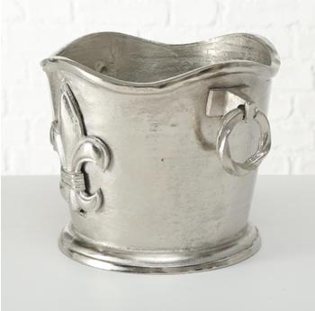Boltze Weinkühler Lily Aluminium antiksilber