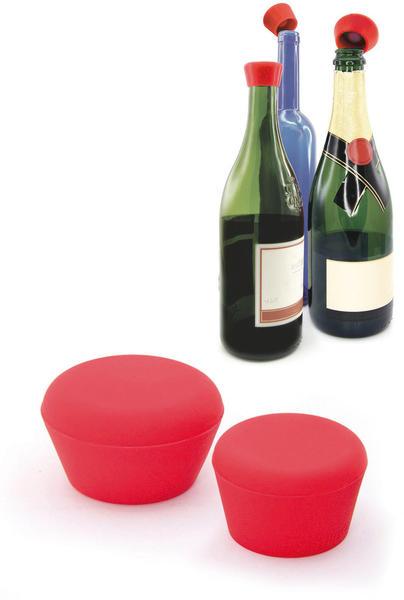 Pulltex Celebration Wein- und Sekt-Verschlüsse 2er Set rot