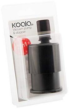Koala koala Vakuumverschluss, Schwarz, 7.5 x 4.5 x 13.5 cm