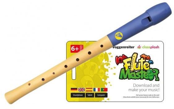 Voggenreiter Flute Master (App) + Holz/ Kunststoff Blockflöte mit deutscher Griffweise