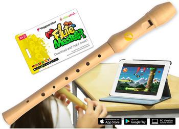 Voggenreiter Flute Master (App) + Blockflöte aus Bergahorn in deutscher Griffweise