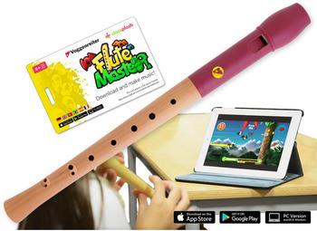 Voggenreiter Flute Master (App) + Holz/ Kunststoff Blockflöte mit barocker Griffweise