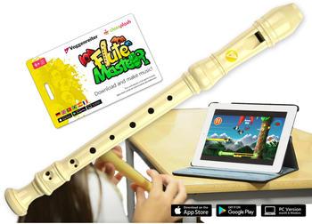 Voggenreiter Flute Master (App) + Blockflöte aus Kunststoff in barocker Griffweise