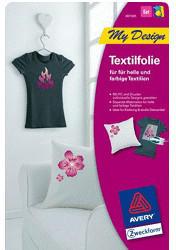 Zweckform AVERY ZWECKFORM MD1005 Textilfolien-Set 210 x 297 mm 5 Bogen