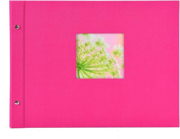 Goldbuch Schraubalbum Bella Vista 39x31/40 pink (schwarze Seiten)