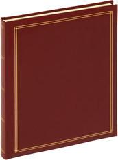 walther design Selbstklebealbum Monza 26x30/30 rot