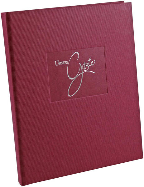 Goldbuch Gästebuch Seda 23x25/176 brombeer