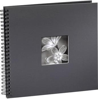 Hama Spiralalbum Fine Art 36x32/50 grau (schwarze Seiten)