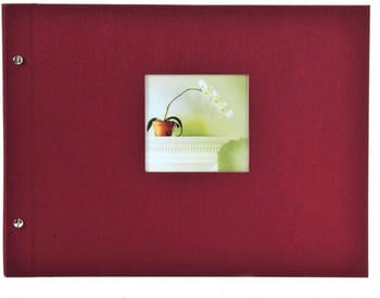 Goldbuch Schraubalbum Bella Vista 30x25/40 bordeaux (weiße Seiten)