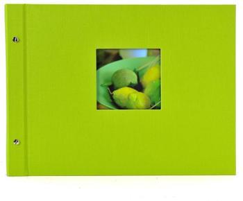 Goldbuch Schraubalbum Bella Vista 39x31/40 grün (schwarze Seiten)