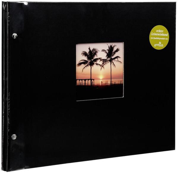 Goldbuch Schraubalbum Bella Vista 39x31/40 schwarz (weiße Seiten)