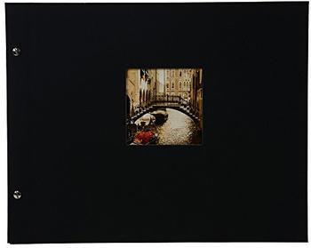Goldbuch Schraubalbum Bella Vista 39x31/40 schwarz (schwarze Seiten)