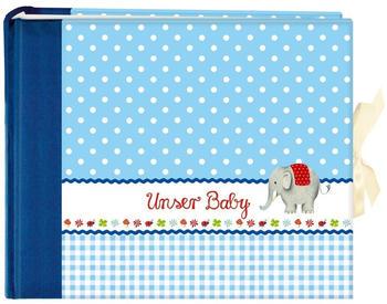 Coppenrath Fotoalbum Unser Baby 27x21/52 blau