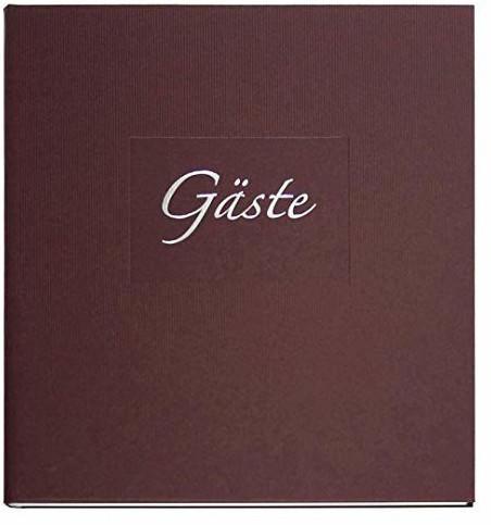 Goldbuch Gästebuch Seda 23x25/176 braun