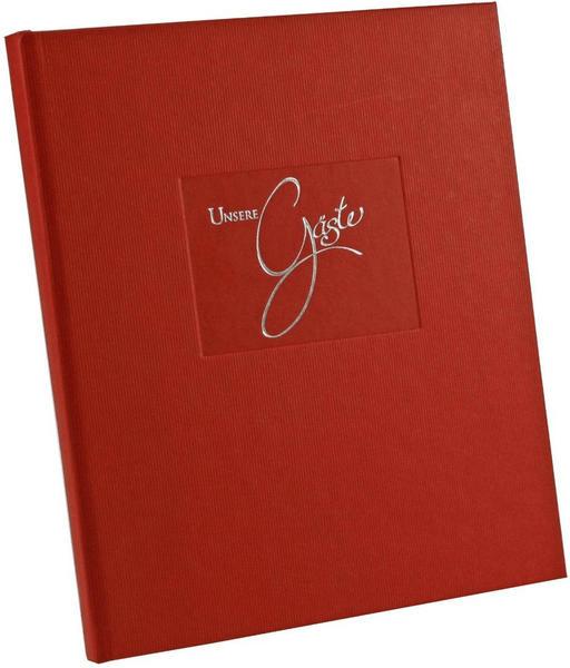 Goldbuch Gästebuch Seda 23x25/176 rot