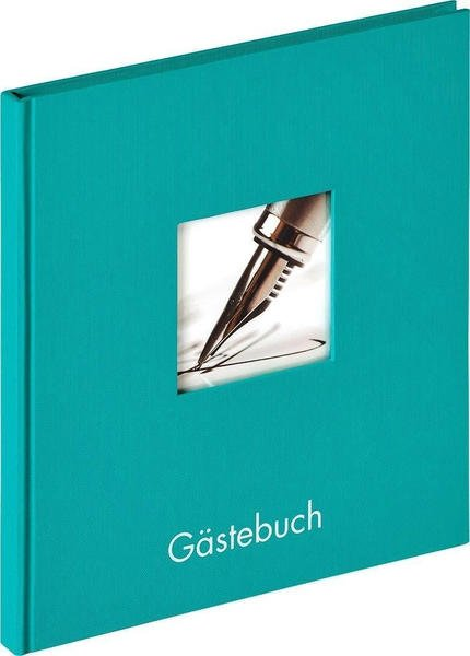 walther design Gästebuch Fun 23x25/72 petrolgrün