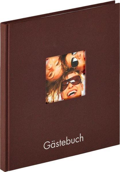 walther design Gästebuch Fun 23x25/72 dunkelbraun