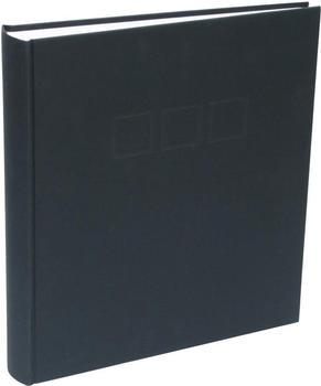 Deknudt Klebealbum Leinen 30x33/100 schwarz