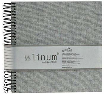 Goldbuch Spiralalbum Linum 20x20/40 grau