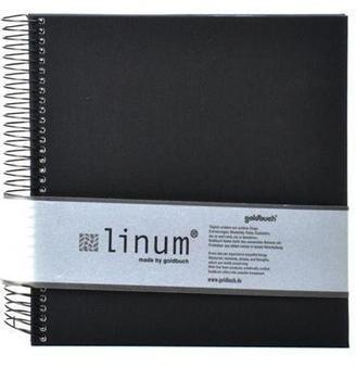 Goldbuch Spiralalbum Linum 20x20/40 schwarz