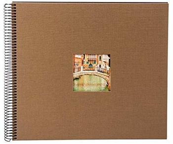 Goldbuch Spiralalbum Bella Vista mit Bildausschnitt 34x30/40 coffee