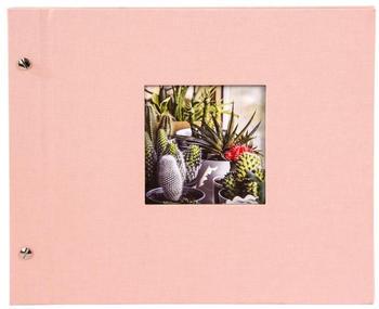 Goldbuch Schraubalbum Bella Vista 30x25/40 rose (schwarze Seiten)