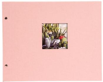Goldbuch Schraubalbum Bella Vista 39x31/40 rose (schwarze Seiten)