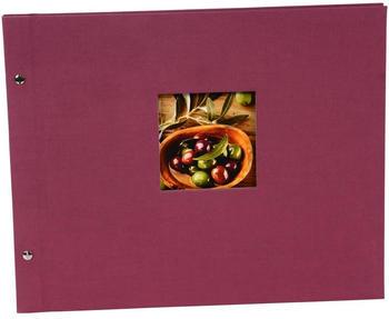 Goldbuch Schraubalbum Bella Vista 39x31/40 fuchsia (schwarze Seiten)