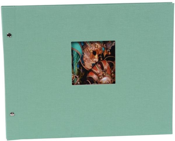 Goldbuch Schraubalbum Bella Vista 39x31/40 aqua (schwarze Seiten)