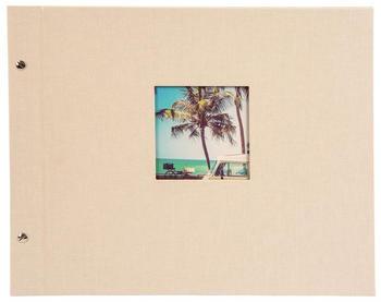 Goldbuch Schraubalbum Bella Vista 39x31/40 sandgrau (weiße Seiten)