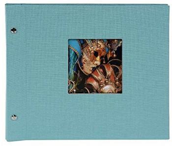 Goldbuch Schraubalbum Bella Vista 30x25/40 aqua (schwarze Seiten)